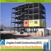Bâtiment à plusieurs étages de structure en acier légère de bâtiment d'hôtel de faible coût