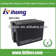 10/100 / 1000M Fiber Optic Media Converter Singlemode Dual Faser LC Port 20km