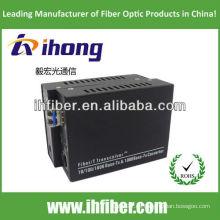 10/100 / 1000M Fibra Óptica Media Converter Singlemode fibra dual puerto LC 20 km