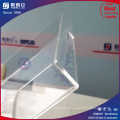 Plateau carré acrylique carré d'usine clair