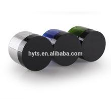 Bocal en plastique PET 100 ml avec couvercle noir et couvercle en aluminium