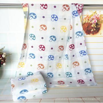 3 couches de coton 100% serviette de champignon pour bébé avec 70X140cm