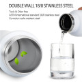 Amazon Hot Selling Durable Sports 750ml Stainless Steel Vacuum Sealed Water Bottle With Straw