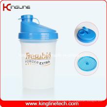 500ml Plastik-Protein-Shaker-Flasche mit Filter (KL-7012)
