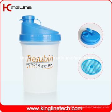 500ml Plastic Protein Shaker Bottle with Filter (KL-7012)