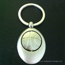 Cadeau Sport Promotionnel Custom Engrave Logo Metal Basketball Keychain (F1232)