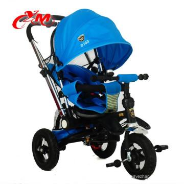Chine nouveau design bébé tricycle enfants pédale trike peut mentir / Bicystar marque enfants métal tricycle air roues