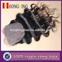 fechamento barato por atacado do laço do cabelo humano