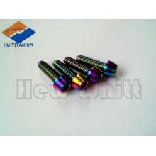 rainbow colored titanium taper bolt M6*30