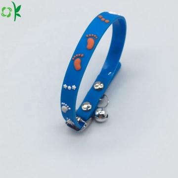 Wholesale  Printed Pattern Waterproof Silicone Pet Collars