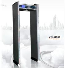 Multi Zona Caminar a través de detector de metales Vo-8000
