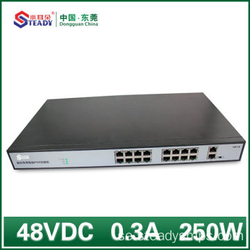 16 portar Gigabit Standard Managed POE Switch