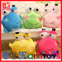 Hot Sale Stuffed Frog Plush Hand Warmer Toy For Baby Microwavable Products