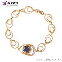 Élégant 18k Plaqué Or CZ Diamant Mode Imitation Bijoux Bracelet (74182)