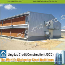 Structure en acier légère de galvanisation de haute qualité à deux étages Coop