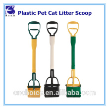 Hot pet accessory dog cleaning item long handle portable litter pooper scooper for dog cat jaw claw rake spring