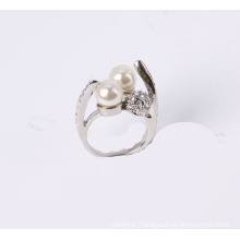 Special Design Fashion Jewelry Ring with Pearl and Rhinestones