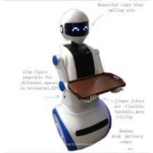 Robô de garçom inteligente no supermercado