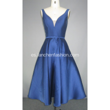 Vestidos de cóctel Royal Blue V Neck Evening