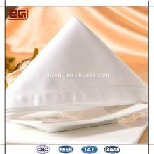 Vente en gros Tissu de serviette de table de mariage sanitaire en coton blanc haute qualité