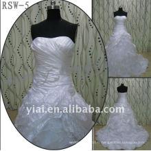 RSW-5 2011 Hot Sell New Design Ladies à la mode élégante personnalisée vraie robe de bal robe de mariée
