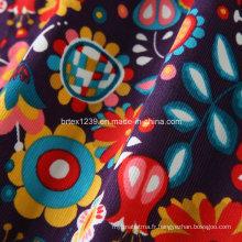 16Vidés en velours côtelé en coton pour vêtements avec imprimé réactif