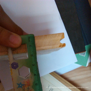 Plancher en bambou vertical de couleur naturelle de 15 mm
