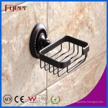 Fyeer Black Series Accesorios de baño Soporte de plato de jabón de latón