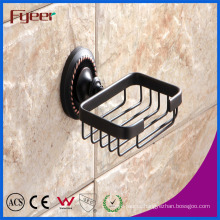 Fyeer Black Series Bathroom Fittings Brass Soap Dish Holder