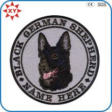 Insigne exquis de broderie de chien d'animal de détail de détail
