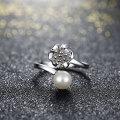 Joyería de plata pura de la perla de plata 925 mujeres de la plata esterlina