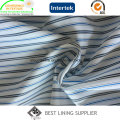 Polyester Yarn Dyed Stripe Sleeve Lining Fabric for Men′s Suit