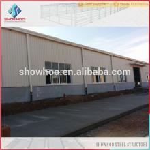 Bâtiment préfabriqué léger en acier industriel à partir de Qingdao Showhoo