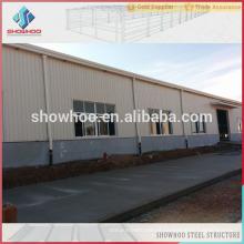 Construção de fábrica industrial de aço pré-fabricada leve de Qingdao showhoo