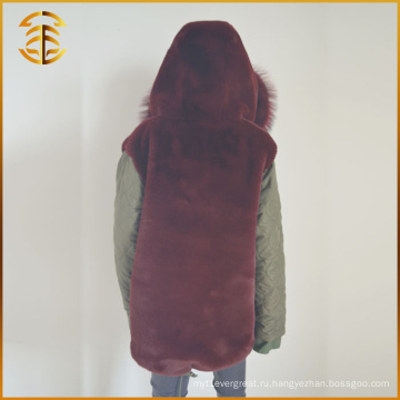 Новый стиль Custom Cheap Designs Long Trench Fox Fur Coat Parka