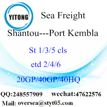 Shantou Port Seefracht Versand in Port Kembla