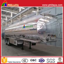 Aluminiumlegierungs-Tanker-halb Anhänger mit dem Behälter-Spiegel-Polieren