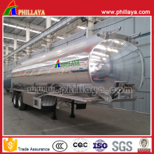 Semi remorque de bateau-citerne d'alliage d'aluminium avec le polissage de miroir de réservoir