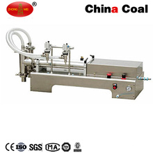 Double Heads Piston Juice Water Liquid Filling Machine