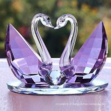 Décorations en cristal de mariage de cadeau de cygne de cristal de haute qualité