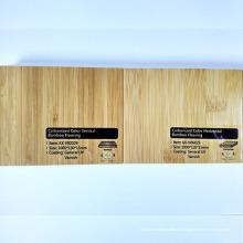Plancher de bambou carbonisé vertical de laque UV solide