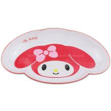 Placa de jantar de melamina com o meu logotipo Melody (PT7245)