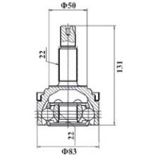 Lada Samara 2108 2109 cv joint for LD-001