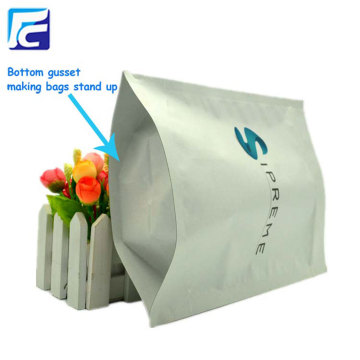 Resealable white paper stand up bag for powder