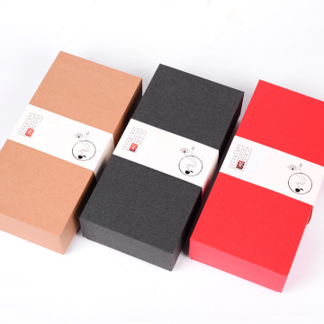 3 colors black tea paper box with sleeve