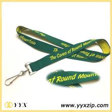 Stampa logo giallo verde nastro cordino per la mostra