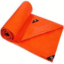 Orange Tarpaulin Construction Site Protection Cover