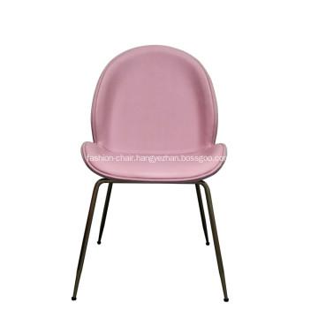 Gold Gubi Beetle Fabric Living Room Chair