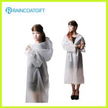 Mode Frauen EVA lange Regenmantel