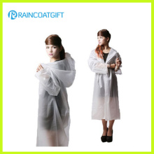 Fashion Women′s EVA Long Raincoat